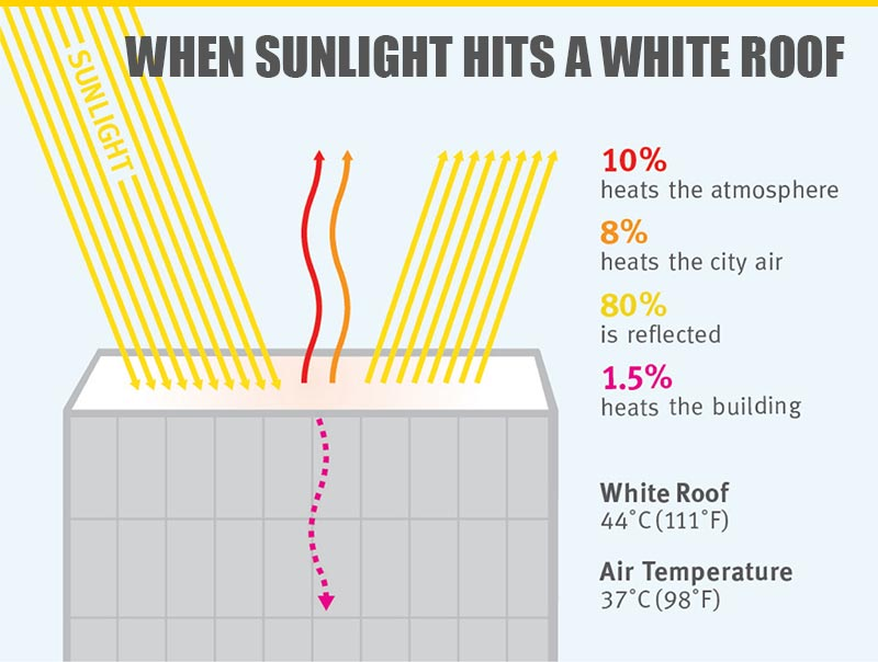 Cool Roof Temperature Comparison